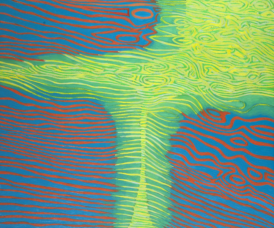 Pejzaż zawirowany-2, 100x120 cm