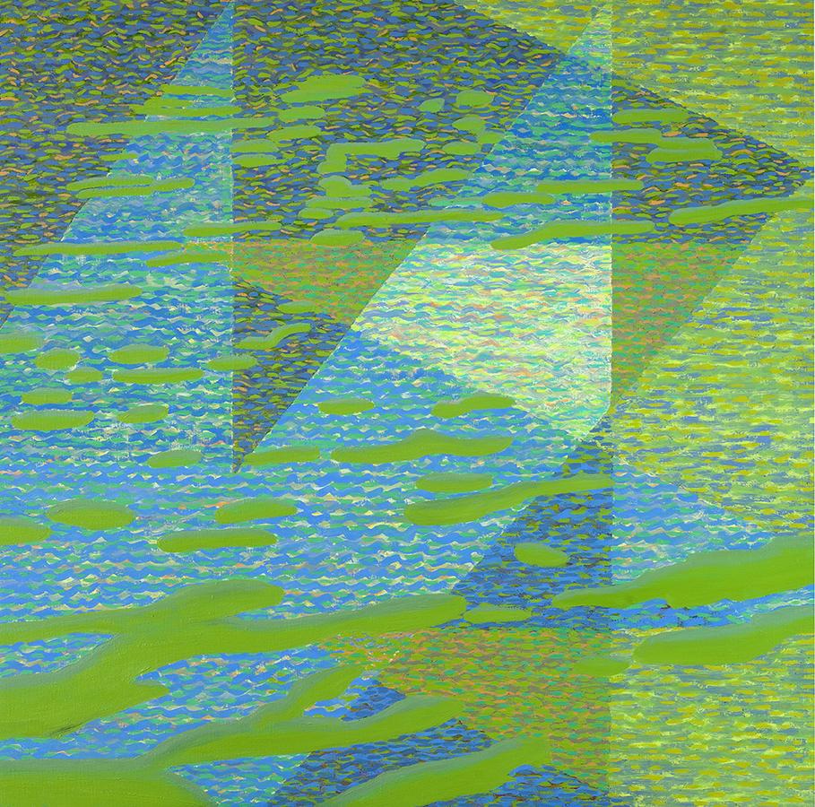 Pejzaż geometryczny-3, 100x100 cm