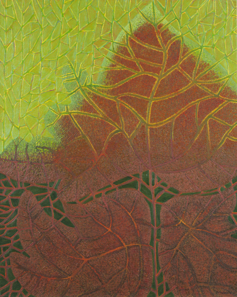 Tree leaves, 100x80 cm