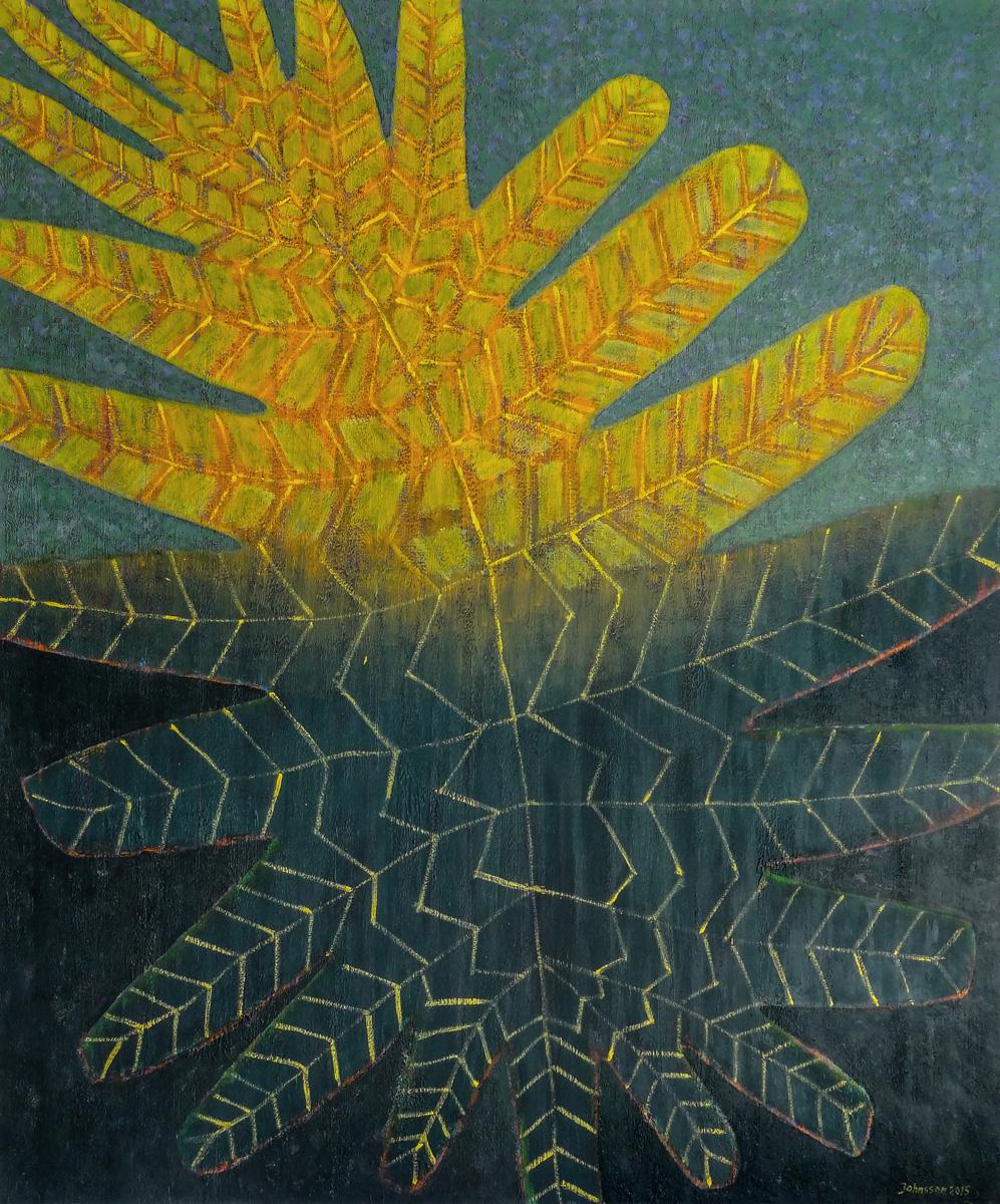 Wielki liść-1, 100x80 cm