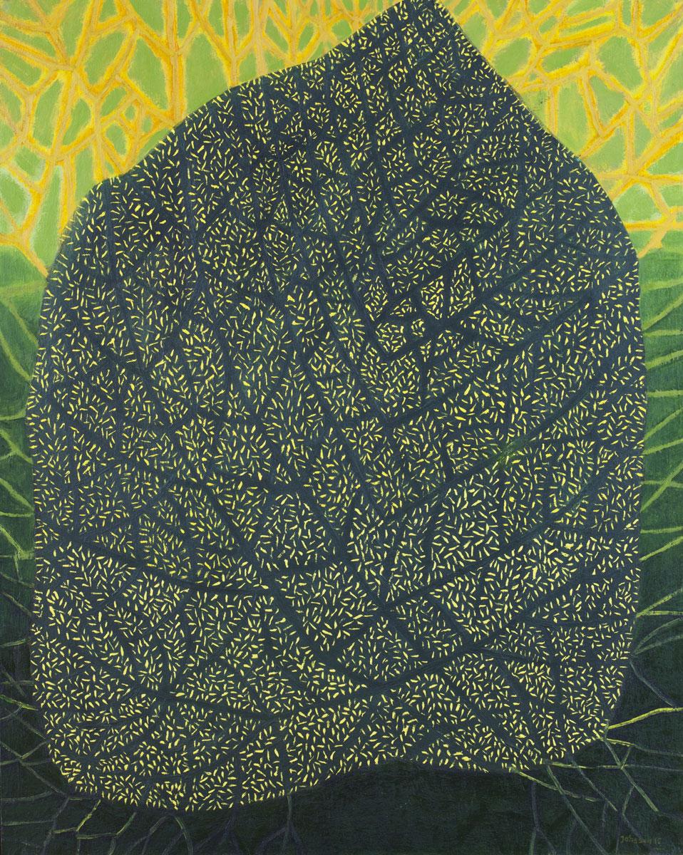 Wielki liść-2, 100x80 cm