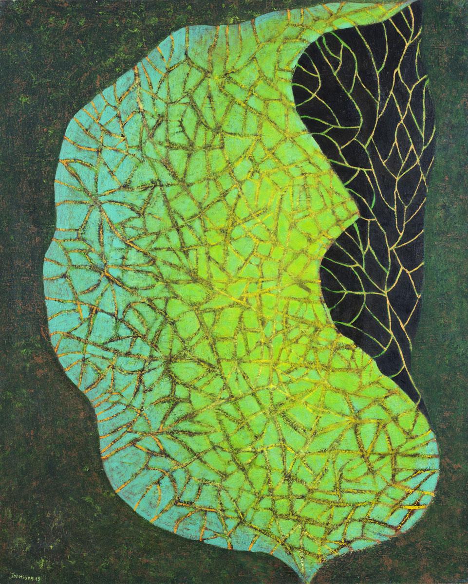 Wielki liść-4, 100x80 cm