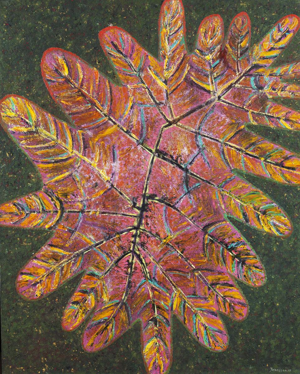 Wielki liść-5, 100x80